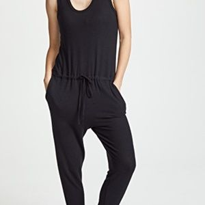 Enza Costa Sleeveless Drawcord Jumpsuit Size S